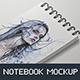 Notebook / Sketchbook Mock-up - GraphicRiver Item for Sale