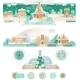 Vintage Christmas Set with Banners   - GraphicRiver Item for Sale
