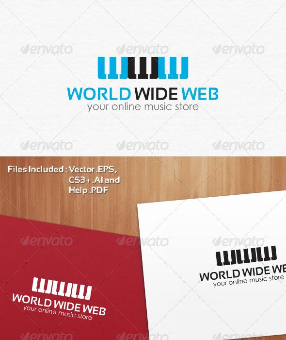 Online Music Store Logo Design