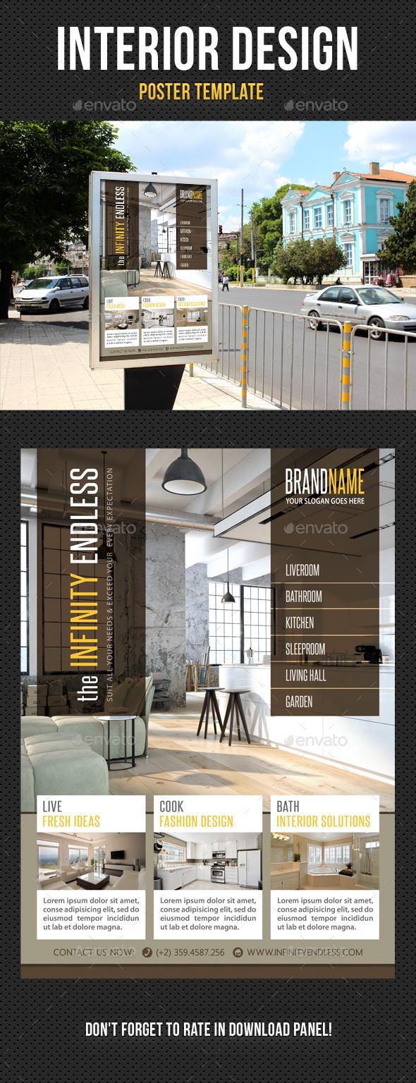 Poster Design Template Flyer Graphics, Designs & Templates