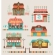 Markets Buildings and Urban Elements Set - GraphicRiver Item for Sale