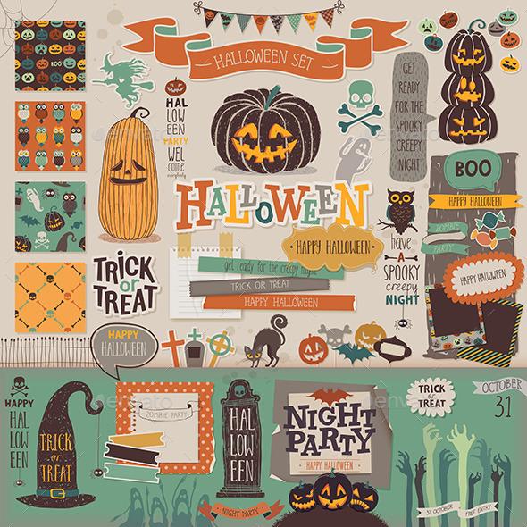 Halloween Scrapbook Set