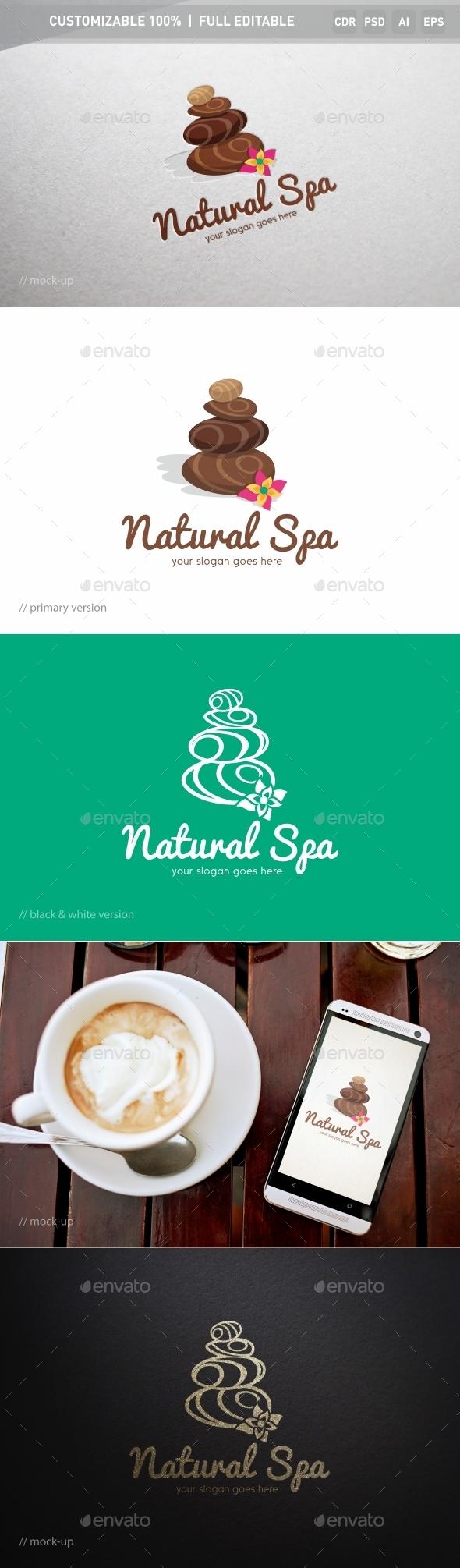 Natural Spa Logo Template