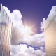 Skyscrapers, Evening Sun, Sky and Clouds - VideoHive Item for Sale
