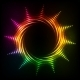 Abstract Rainbow Neon Spirals Vector Cosmic Sun - GraphicRiver Item for Sale