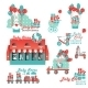 Cute Designs Set For Baby Store Delivery Service - GraphicRiver Item for Sale