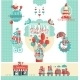 Cute Designs Set For Baby Shower Gift Store - GraphicRiver Item for Sale