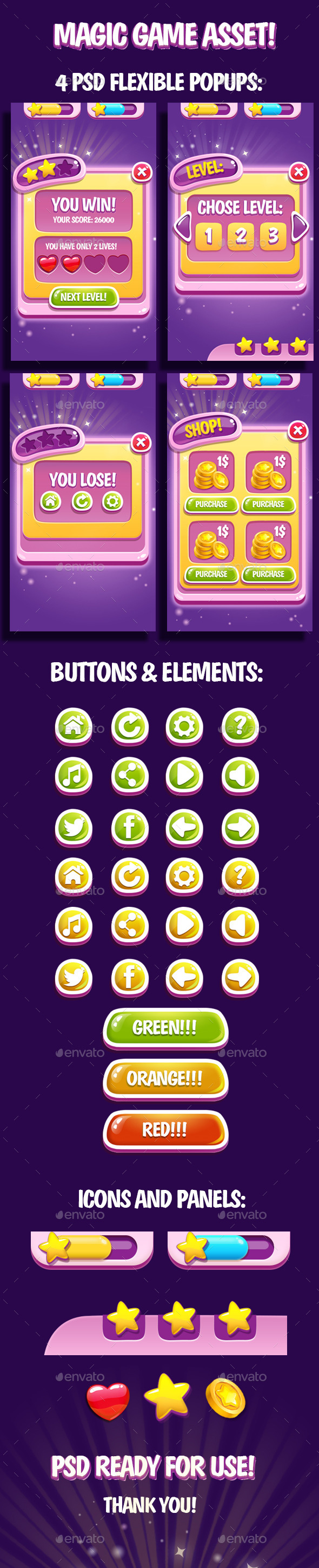 Like Button Game Assets from GraphicRiver