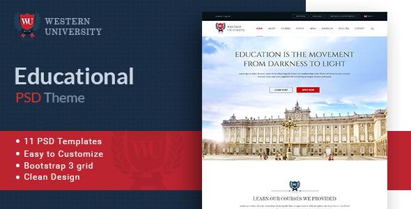 Western University | Educational PSD Theme