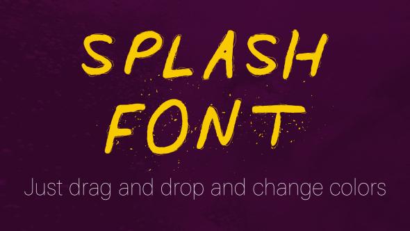 Splash Font - A Liquid Font