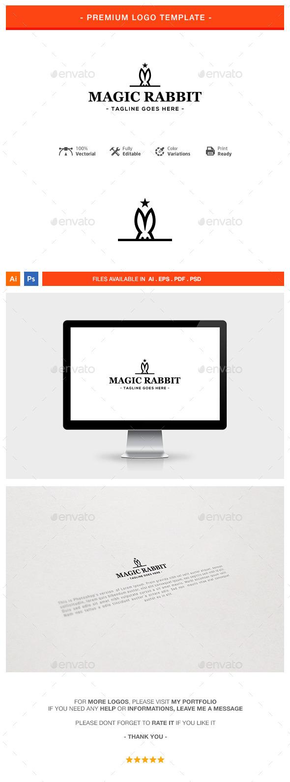 Magic Rabbit Logo Template