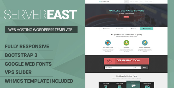 ServerEast - VPS Hosting Wordpress Theme