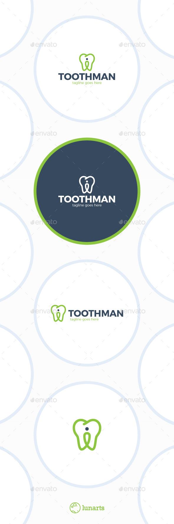 Dental Location Logo - Tooth Pin