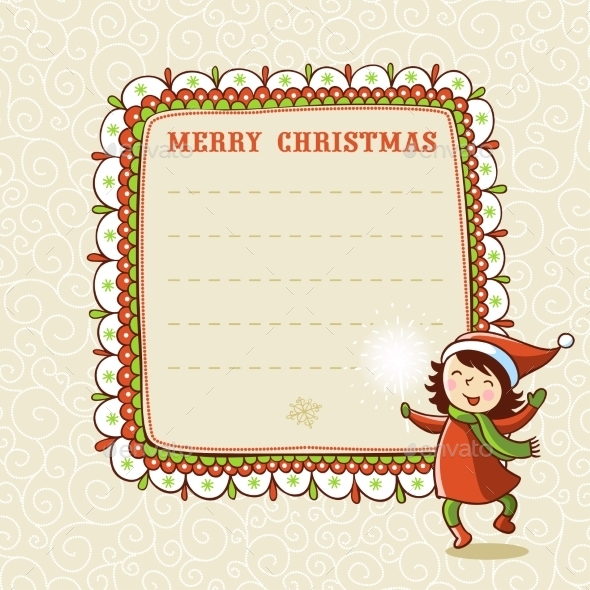 Christmas Card with Textbox