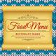 Winter & Christmas Food Menu - GraphicRiver Item for Sale