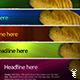 colorful website header - GraphicRiver Item for Sale