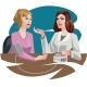 Medical Illustration Woman At The Doctor - GraphicRiver Item for Sale
