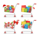 Christmas Sale Shopping Carts with Gift Boxes Bags - GraphicRiver Item for Sale