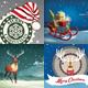 Christmas Backgrounds/Cards Collection Vol.1 - GraphicRiver Item for Sale