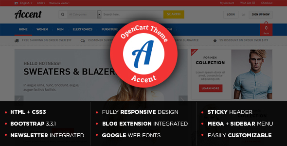 Accent - Gift Store Responsive OpenCart Theme