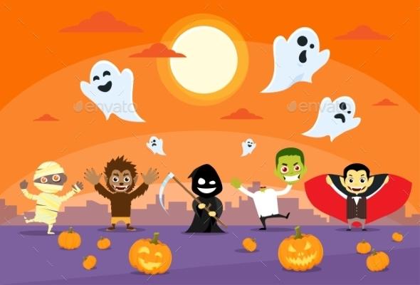 Halloween Monsters Banner