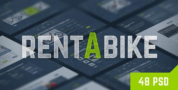 Rent a Bike - Rental & Booking PSD Template