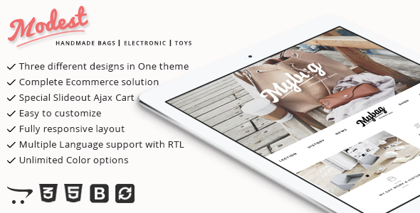 Modest - Multipurpose and Responsive Opencart Theme