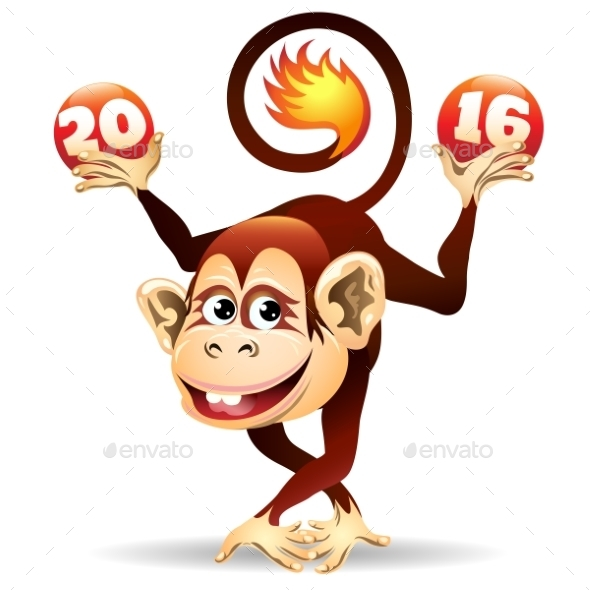 Cheerful Fire Monkey
