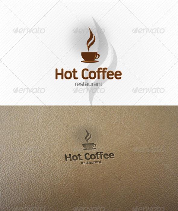 Hot Coffee Logo Template