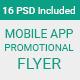 Material Design Mobile App Promotional Flyer - GraphicRiver Item for Sale