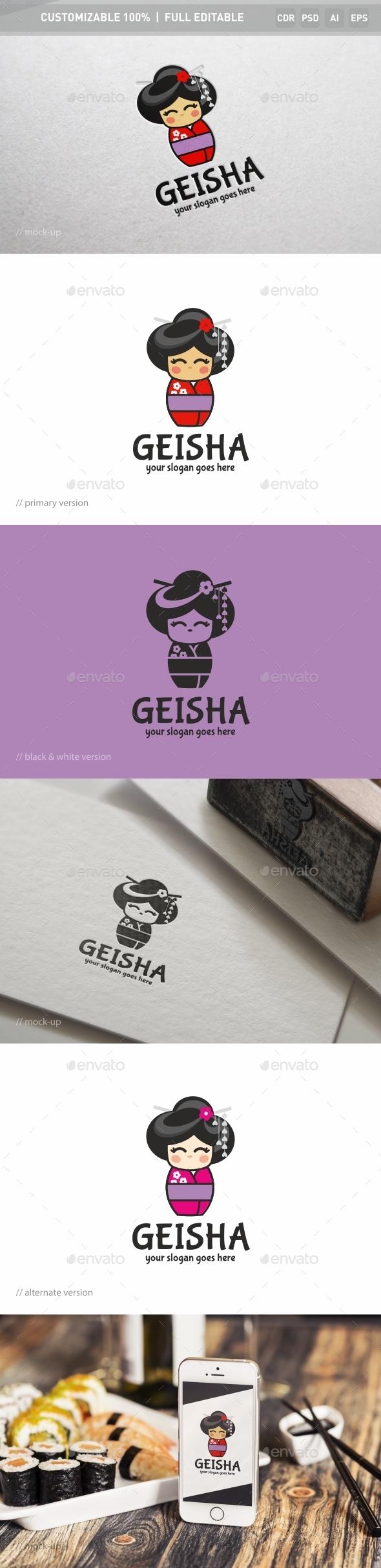 Geisha Logo Template