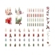 Set of Different Candles with Christmas Decoration - GraphicRiver Item for Sale