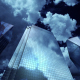 Skyscrapers at Night. Sky and Clouds Background - VideoHive Item for Sale