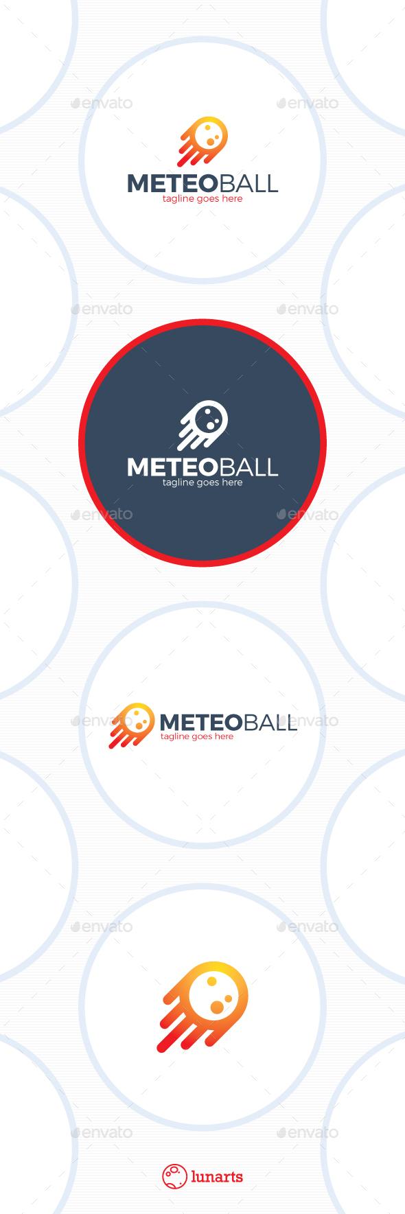 Simple Meteorite Logo - Rocket