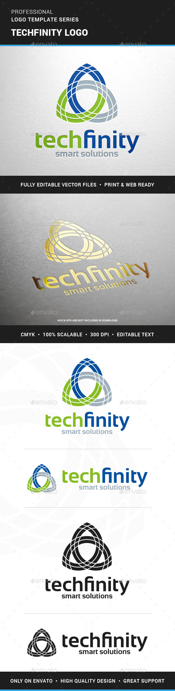 Techfinity Logo Template