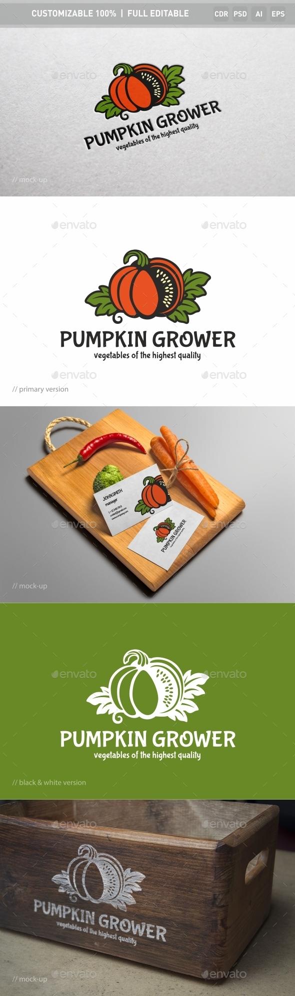Pumpkin Grower Logo Template
