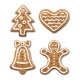 Set of Gingerbread Christmas Cookies on White - GraphicRiver Item for Sale