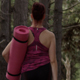 Female Fitness Trainer Walking Through Forest - VideoHive Item for Sale