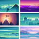 Vector Abstract Landscapes - GraphicRiver Item for Sale