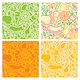 Seamless Patterns with Fruits and Vegetables - GraphicRiver Item for Sale