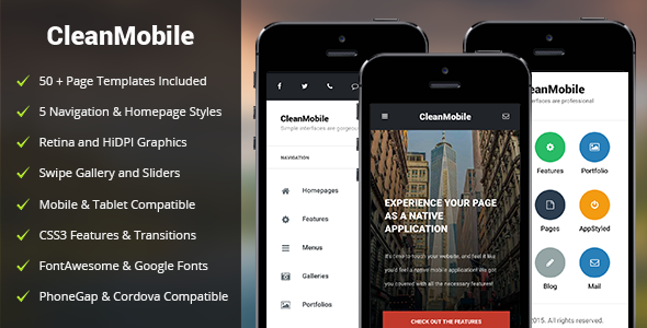 Mobile App HTML Mobile Website Templates from ThemeForest