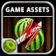 Katana Fruits Game Assets - GraphicRiver Item for Sale