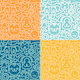 Seamless Patterns with Cat and Dog Icons - GraphicRiver Item for Sale