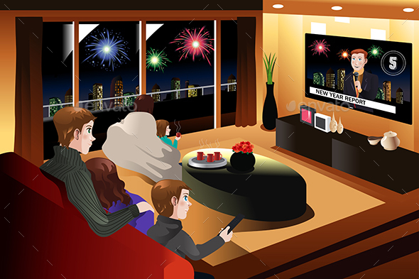 Family Spending Time Together on New Year Eve
