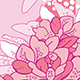 Hand Drawn Romantic Pink Floral Pattern Set     - GraphicRiver Item for Sale
