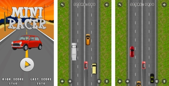 Mini Racer - HTML5 Game + Mobile + AdMob (Construct 3   Construct 2   Capx)