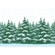 Seamless Christmas Forest Landscape - GraphicRiver Item for Sale