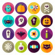 Halloween Scary Flat Icons - GraphicRiver Item for Sale