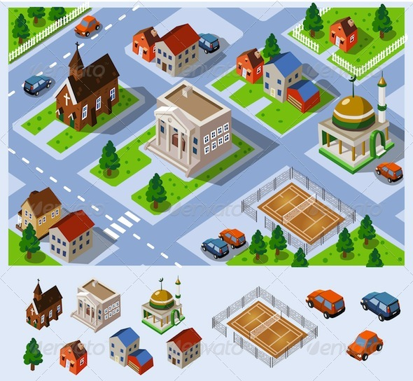 isometric city map graphics designs templates isometric city map graphics designs