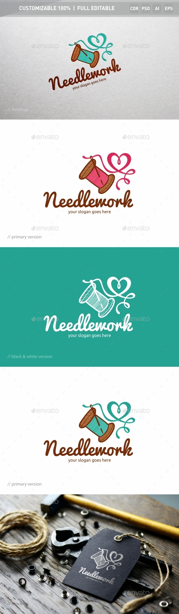 Needlework Logo Template